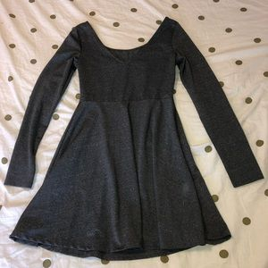 long sleeve grey dress US S